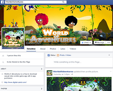 World of Adventures - Facebook Page
